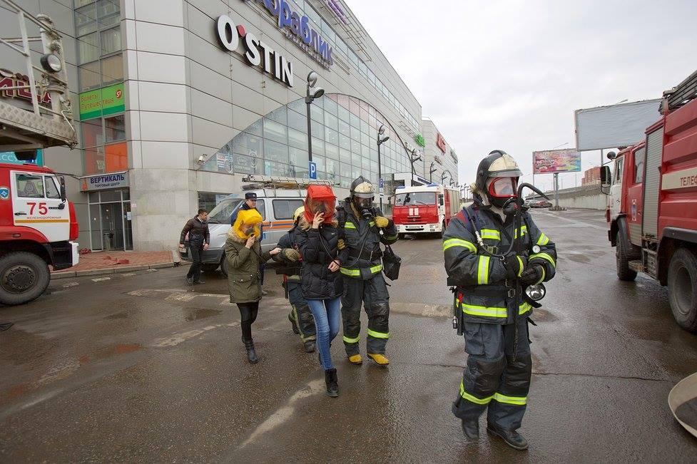 Противопожарные учения прошли в ТЦ «Вертикаль» в Балашихе